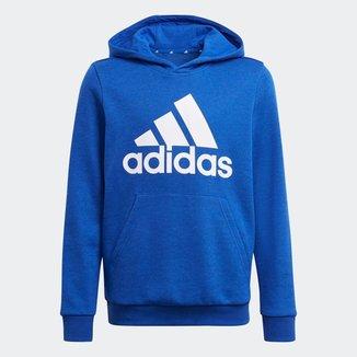 Moletom Adidas Capuz Essentials Logo Infantil - Azul - 12
