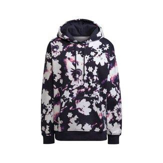 Moletom Adidas Capuz Originals Estampa Floral Feminino