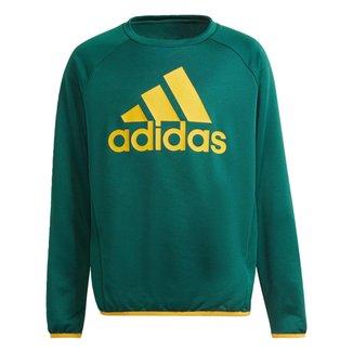 Moletom adidas Designed To Move Big Logo  -Verde Adidas