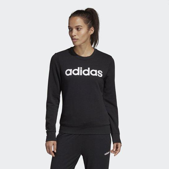 Moletom Adidas E Lin Feminino - Preto+Branco