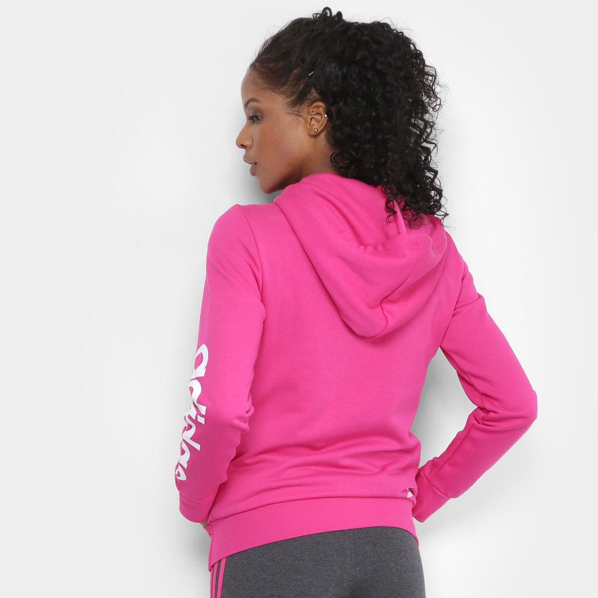 5342568bdd32f3  Moletom Adidas Essentials Linear c Capuz Feminino - Branco  - Compre ... f1e411859a2803 ... 81a11b58a833f