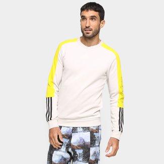Moletom Adidas Frech Terry Logo Colorblock Masculina