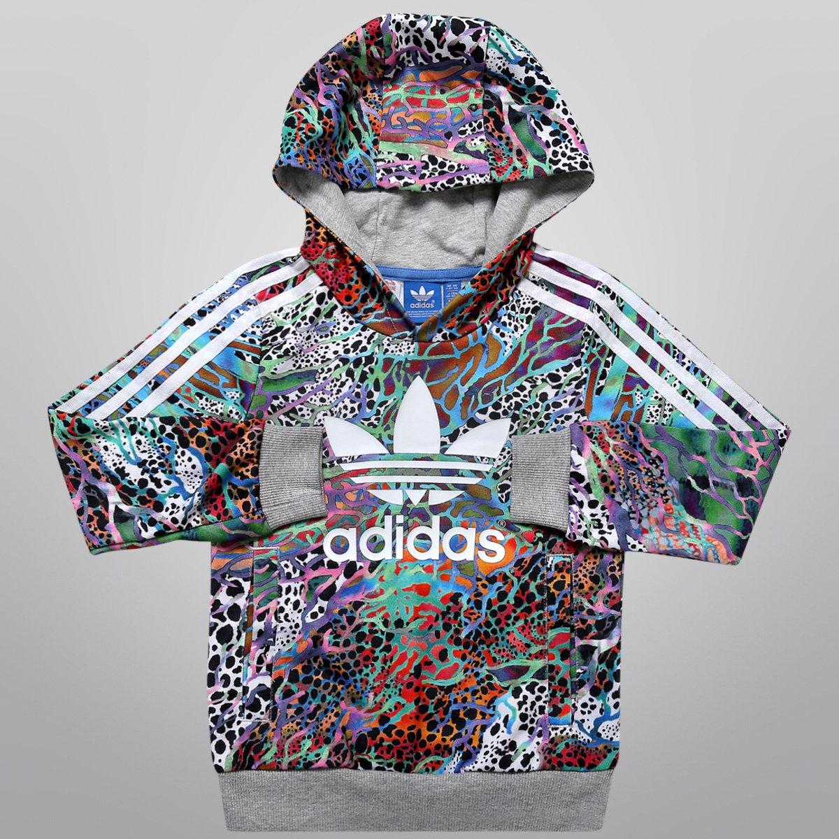 4b5a6f013d0 Moletom Adidas J Flwr HFL Top c  Capuz Infantil - Compre Agora ...