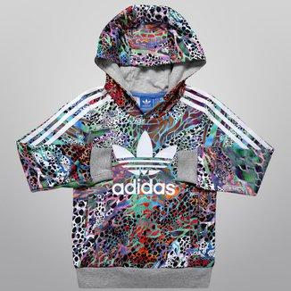 Moletom Adidas J Flwr HFL Top c/ Capuz Infantil