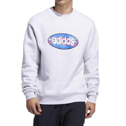Moletom Adidas Ovalo SweatShirt Cinza