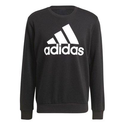 Moletom Adidas Sem Capuz Logo Preto Masculino