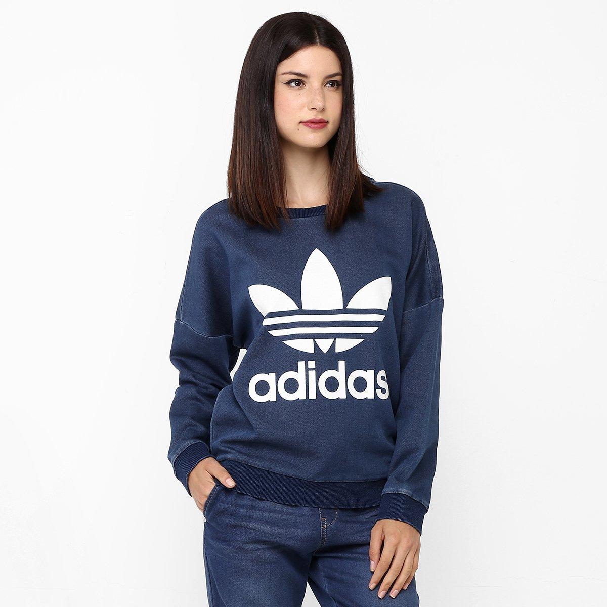 d48ca161fc1 Moletom Adidas Tr Denim Sweat - Compre Agora