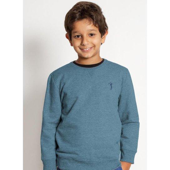 Moletom Aleatory Básico Kids Masculino - Azul