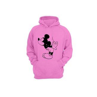 Moletom Algodão Mickey Slim Feminino Capuz Casual Conforto