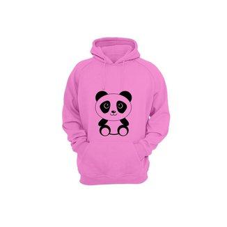 Moletom Algodão Panda Masculino Capuz Bolso Canguru Casual