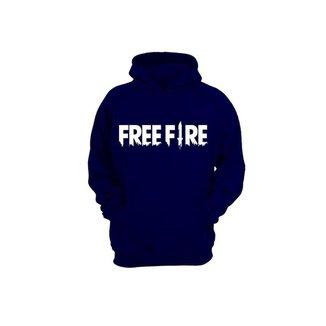 Moletom Algodão Slim Masculino Free Fire Capuz Conforto