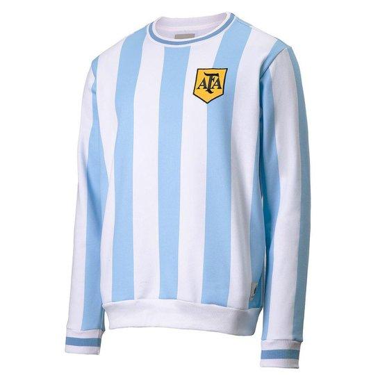 Moletom Argentina Retrô 1986 Masculino - Azul Claro
