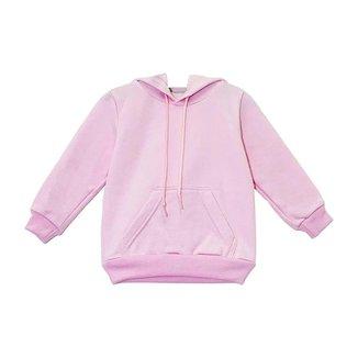Moletom Aveloz Infantil Canguru Básico Rosa