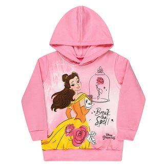 Moletom Bebê Disney By Kamylus Peluciado Com Capuz A Bela e a Fera Feminino