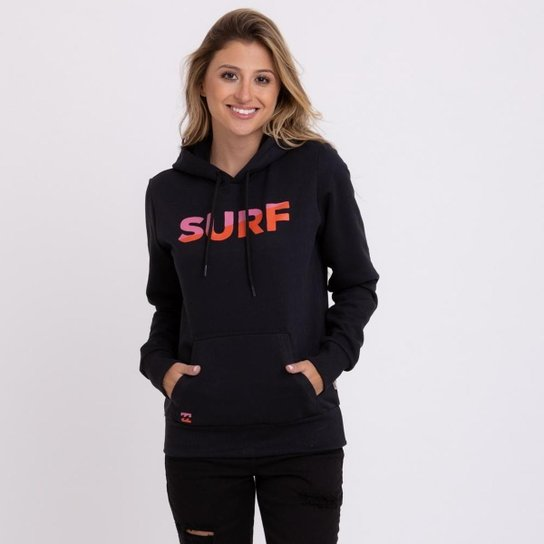 Moletom Billabong Surf Slice Feminino - Preto