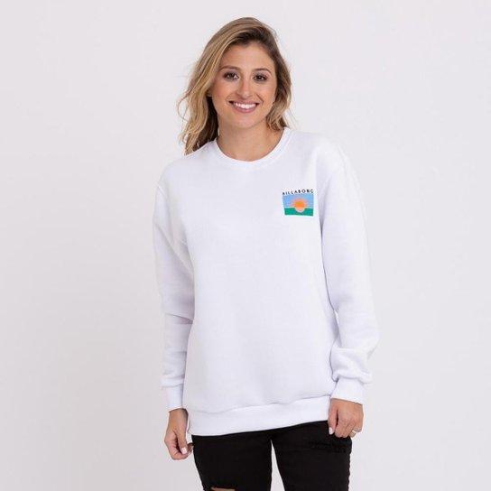 MOLETOM BILLABONG SURF VIBE - BRANCO - Branco