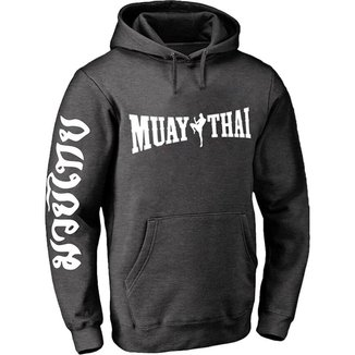 Moletom blusa de frio unissex abrigo esporte Muay thay CINZA M
