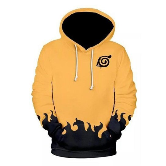 Moletom Blusa Infantil Masculino Full Naruto R 019 - Amarelo