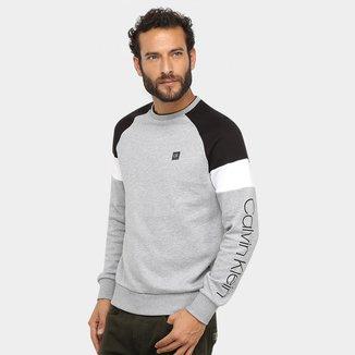 Moletom Calvin Klein Malha Logo Masculino
