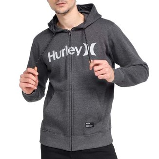 Moletom Canguru Aberto Hurley OeO Solid Plus Size
