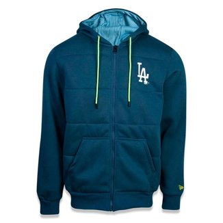 MOLETOM CANGURU ABERTO LOS ANGELES DODGERS MLB AZUL NEW ERA
