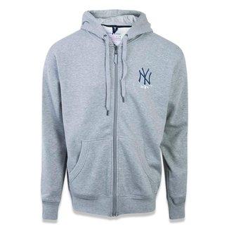 Moletom Canguru Aberto New York Yankees MLB New Era Masculino