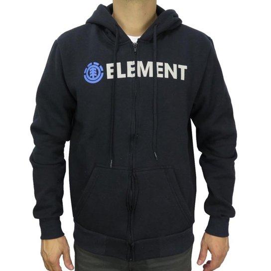 Moletom Canguru Element Blazin Zip Masculino - Preto