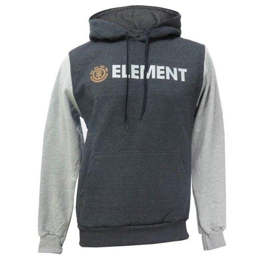 Moletom Canguru Element Duo Block - Cinza
