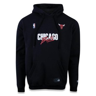 Moletom Canguru Fechado Chicago Bulls Nba New Era Masculino
