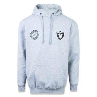 Moletom Canguru Fechado Oakland Raiders NFL New Era Masculina