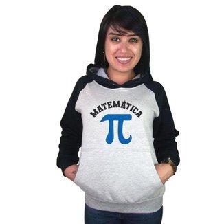 Moletom Canguru Feminino Raglan Faculdade Curso Matemática