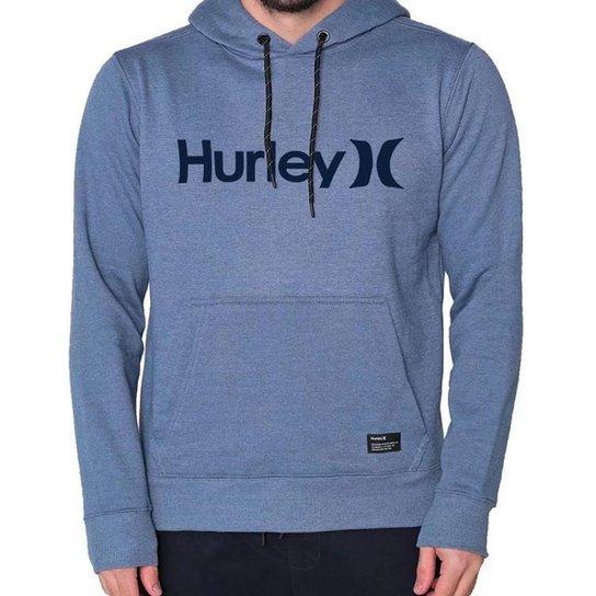 Moletom Canguru Hurley OeO Solid Azul Mescla - Azul