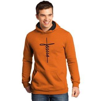 Moletom Canguru Masculino Premium Cristão Jesus