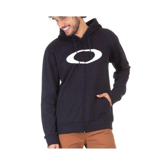 Moletom Canguru Oakley Ellipse Pullover Black - Preto