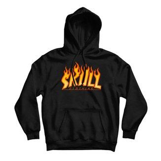 Moletom Canguru Skull Fire Masculino
