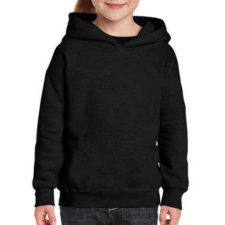 Moletom Casual Infantil Menino Capuz Liso Conforto Dia a Dia