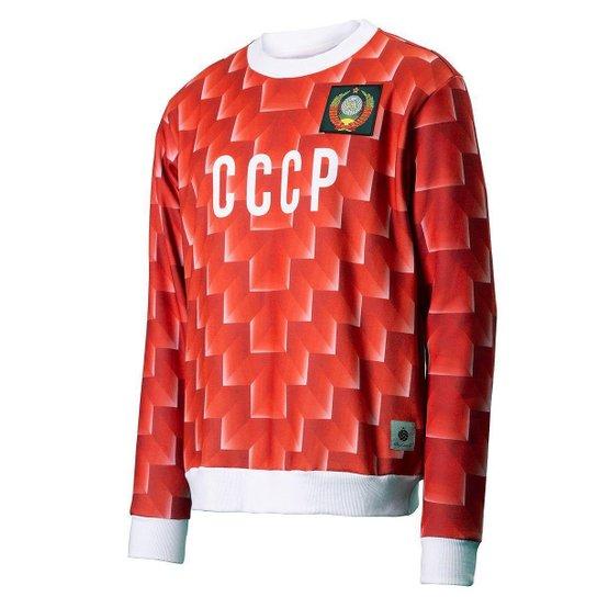 Moletom CCCP Retrô 1988 União Soviética Masculino - Vermelho