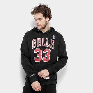 Moletom Chicago Bulls Mitchell & Ness NBA Canguru II Masculino