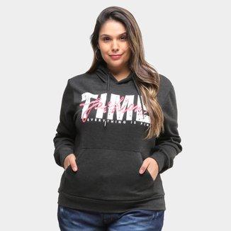Moletom City Lady Time Fashion  Plus Size Feminino