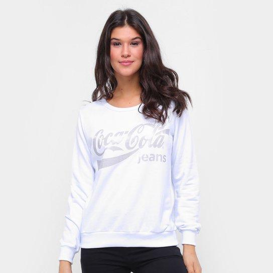 Moletom Coca-Cola Feminino - Branco