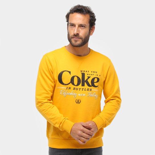 Moletom Coca-Cola Masculino - Amarelo