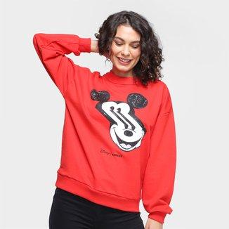 Moletom Colcci Disney Mickey Distortion Feminino