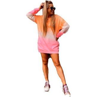 Moletom Color _ estilo vestido