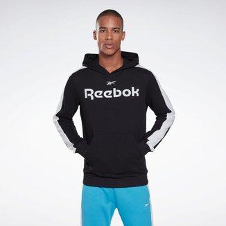 Moletom com Capuz Logo Bolso Slim Fit Reebok