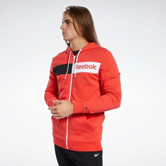 Moletom com Capuz Training Essentials Linear Logo  Reebok