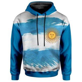Moletom Com Capuz Unissex Bandeira Argentina