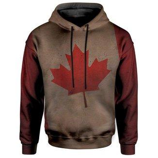 Moletom Com Capuz Unissex Bandeira Canada Maple Md01  - PP