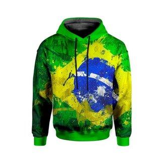 Moletom Com Capuz Unissex Brasil md01  - P