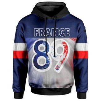 Moletom Com Capuz Unissex França 89  - PP