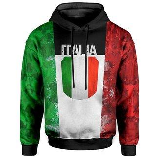 Moletom Com Capuz Unissex Italia Italy